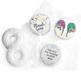 Personalized Mardi Gras Jammin' Jester Hats Life Savers Mints