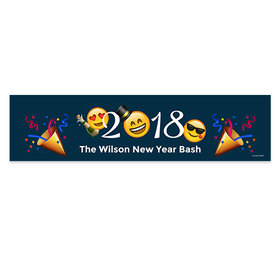 Personalized New Year's Eve Emoji Banner