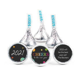 Personalized New Year's Eve Cheers Hershey's Kisses (50 Pack)