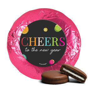 Personalized New Year's Eve Cheers Milk Chocolate Covered Oreos