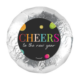 "Personalized New Year's Eve Cheers 1.25"" Stickers (48 Stickers)"