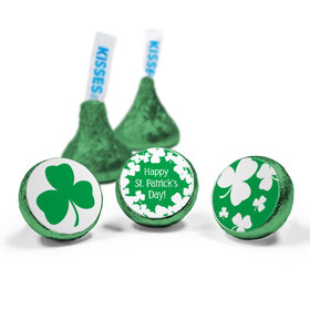 St. Patrick's Day White Clovers Hershey's Kisses (50 Pack)