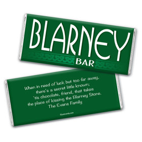 St. Patrick's Day Personalized Chocolate Bar Wrappers Blarney Bar