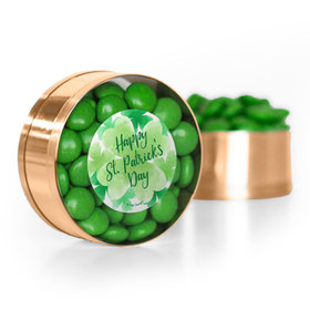 St. Patrick's Day Watercolor Chocolate Minis Small Plastic Tin