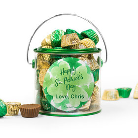 Personalized St. Patrick's Day Watercolor Reese's Filled Green Paint Can