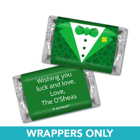 Personalized St. Patrick's Day Tux Mini Wrappers