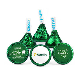 Personalized St. Patrick's Day Feeling Lucky Add Your Logo Hershey's Kisses (50 pack)