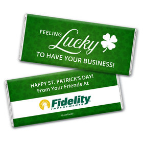 Personalized St. Patrick's Day Feeling Lucky Add Your Logo Chocolate Bar Wrappers