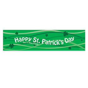 Personalized St. Patrick's Day Clover Streams 5 Ft. Banner