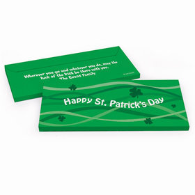 Deluxe Personalized St. Patrick's Day Clover Streams Chocolate Bar in Gift Box