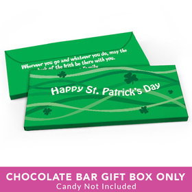 Deluxe Personalized St. Patrick's Day Clover Streams Candy Bar Favor Box