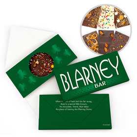 Personalized St. Patrick's Day Blarney Bar Gourmet Infused Belgian Chocolate Bars (3.5oz)