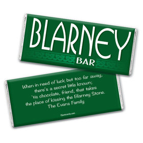 Personalized St. Patrick's Day Blarney Bar Chocolate Bar & Wrapper