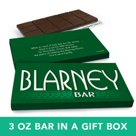 Deluxe Personalized St. Patrick's Day Blarney Bar Chocolate Bar in Gift Box (3oz Bar)