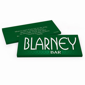 Deluxe Personalized St. Patrick's Day Blarney Bar Chocolate Bar in Gift Box