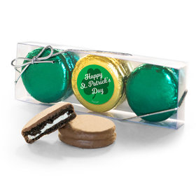 St. Patricks Day Clovers 3PK Belgian Chocolate Covered Oreo Cookies