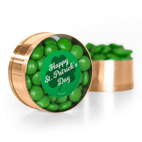 St. Patrick's Day Clovers Chocolate Minis Small Plastic Tin