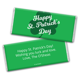 Personalized St. Patrick's Day Clover Chocolate Bar Wrappers
