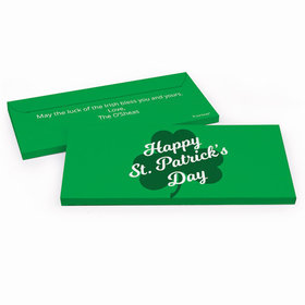 Deluxe Personalized St. Patrick's Day Clover Chocolate Bar in Gift Box
