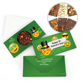 Personalized St. Patrick's Day Emoji Gourmet Infused Belgian Chocolate Bars (3.5oz)