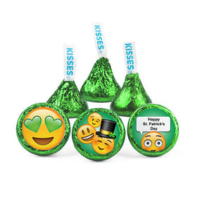 Personalized St. Patrick's Day Emoji Hershey's Kisses (50 pack)