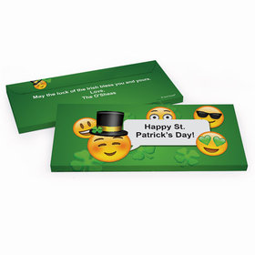 Deluxe Personalized St. Patrick's Day Emoji Chocolate Bar in Gift Box