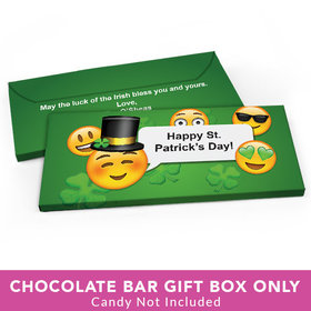Deluxe Personalized St. Patrick's Day Emoji Candy Bar Favor Box