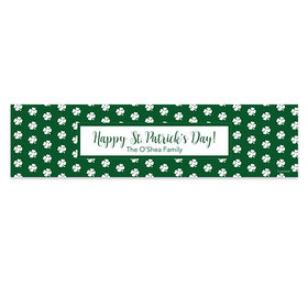 Personalized St. Patrick's Day Sham-dots 5 Ft. Banner