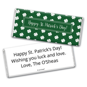 Personalized St. Patrick's Day Shamrocks Chocolate Bar Wrappers