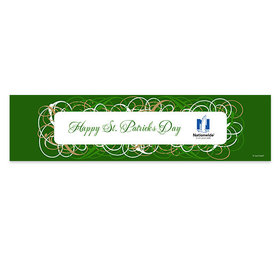 Personalized St. Patrick's Day Swirls 5 Ft. Banner
