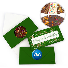 Personalized St. Patrick's Day Swirls Gourmet Infused Belgian Chocolate Bars (3.5oz)