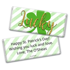 Personalized St. Patrick's Day Stripes Chocolate Bar & Wrapper