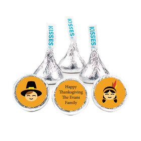 "Thanksgiving 3/4"" Sticker Indians and Pilgrims (108 Stickers)"