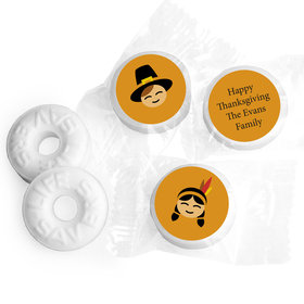 Thanksgiving Personalized Life Savers Mints Indians and Pilgrims