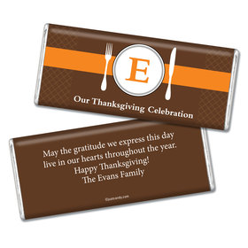 Thanksgiving Personalized Chocolate Bar Monogram Table Seat Place Card