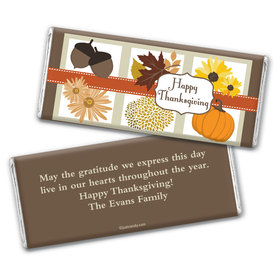 Thanksgiving Personalized Chocolate Bar Wrappers Fall Harvest Items