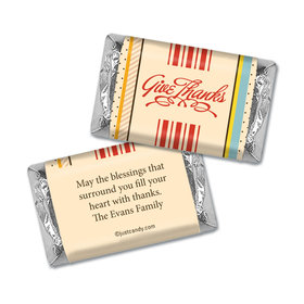 Thanksgiving Personalized Hershey's Miniatures Wrappers Share Blessings Give Thanks