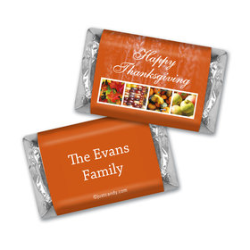 Thanksgiving Personalized Hershey's Miniatures Autumn Harvest