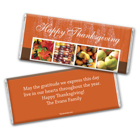 Thanksgiving Personalized Chocolate Bar Wrappers Autumn Harvest