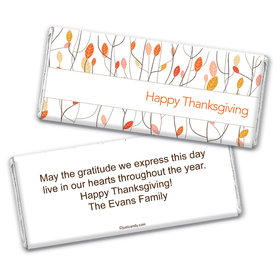 Thanksgiving Personalized Chocolate Bar Wrappers Fall Woods