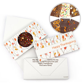 Personalized Thanksgiving Fall Woods Gourmet Infused Belgian Chocolate Bars (3.5oz)