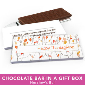 Deluxe Personalized Thanksgiving Fall Woods Chocolate Bar in Gift Box