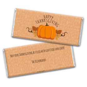 Personalized Thanksgiving Pumpkin Patch Chocolate Bar Wrappers Only