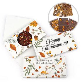 Personalized Thanksgiving Festive Leaves Bar Gourmet Infused Belgian Chocolate Bars (3.5oz)