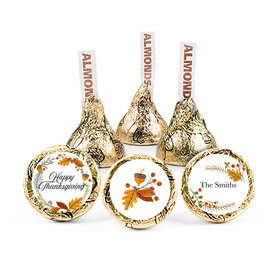 Personalized Thanksgiving Festive Leaves Hershey's Kisses (50 pack)
