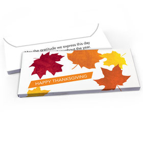 Deluxe Personalized Thanksgiving Fall leaves Candy Bar Favor Box