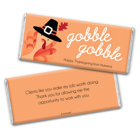Personalized Thanksgiving Gobble Gobble Chocolate Bar & Wrapper