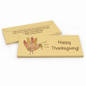 Deluxe Personalized Thanksgiving Handprint Turkey Chocolate Bar in Gift Box