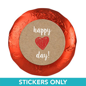 "Valentine's Day Red Heart 1.25"" Stickers (48 Stickers)"