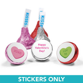 "Valentine's Day 3/4"" Sticker Conversation Hearts Kid's School (108 Stickers)"
